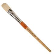 R & F Handmade Paints Encaustic Filbert Paintbrush, No.12