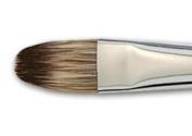 Vermeer Classic Mongoose Watercolour Short Handle Hair Brush Filbert- Watercolour Brush 14