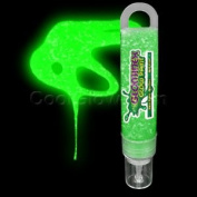Glominex Glitter Glow Paint 30ml Tube - Green