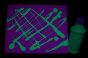 240ml Green Blacklight Reactive Fluorescent Tempera Paint