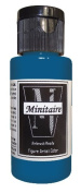 Badger Air-Brush Company, 60ml Bottle Minitaire Airbrush Ready, Water Based Acrylic Paint, Nautilus Blue