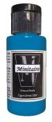 Badger Air-Brush Company, 60ml Bottle Minitaire Airbrush Ready, Water Based Acrylic Paint, Spellslinger Blue