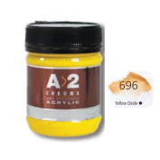 A2 Students Acrylic Paint 250ml Jar Yellow Oxide