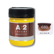 A_2 Student Acrylic 250 ml Jar - Burnt Umber