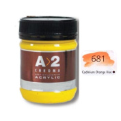 A_2 Student Acrylic 250 ml Jar - Cadmium Orange Hue