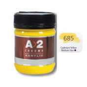 A_2 Student Acrylic 250 ml Jar - Cadmium Yellow Med. Hue