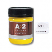 A_2 Student Acrylic 250 ml Jar - Titanium White