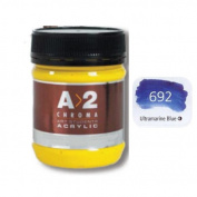 A_2 Student Acrylic 250 ml Jar - Ultramarine Blue