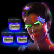 Glominex Glow in the Dark Face and Body Paint 30ml Jar - Blue