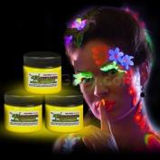 Glominex Glow Body Paint 30ml Jar - Yellow