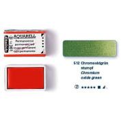 Schmincke Artists Watercolours Chromium Oxide Green Half Pan