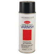 Grumbacher 544 330ml Damar Retouch Varnish Oil Painting, Gloss Spray Can
