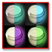 4 Colour Set Glow in the Dark Paint, Luminous, Glowing 30ml