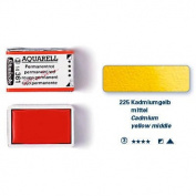 Schmincke Artists Watercolours Cadmium Yellow Middle Half Pan