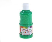 Colour Crazy 250ml Ready Mixed Green Glitter Paint