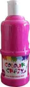 Colour Crazy 250ml Ready Mixed Pink Glitter Paint