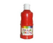 Colour Crazy 250ml Ready Mixed Red Glitter Paint