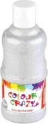 Colour Crazy 250ml Ready Mixed Silver Glitter Paint