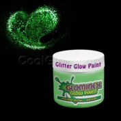 Glominex Glitter Glow Paint 60ml Jar - Green