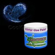 Glominex Glitter Glow Paint 60ml Jar - Blue