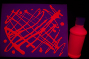 240ml Pink Blacklight Reactive Fluorescent Tempera Paint