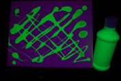240ml Yellow Blacklight Reactive Fluorescent Tempera Paint