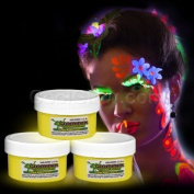 Glow Body Paint 60ml Jar - Yellow
