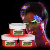 Glow Body Paint 60ml Jar - Red