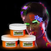 Glow Body Paint 60ml Jar - Orange