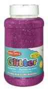 Creative Arts by Charles Leonard Glitter, 470ml (1 Lb.) Bottle, Purple