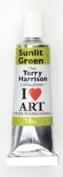 Terry Harrison Sunlit Green Watercolour Paint