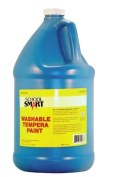 School Smart Washable Tempera Paint - Gallon - Turquoise