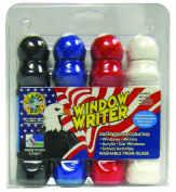 Crafty Dab Window Writer - 4 Pack Clamshell - Patriotic