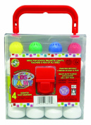 Crafty Dab Kids Shimmer Paint - 4 Pack Carry Case