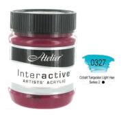 Interactive Professional Acrylic 250 ml Jar - Cobalt Turquoise Lt.Hue