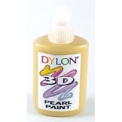 Dylon 3d Fabric Pearl Paint, Golden Yellow Colour 25ml