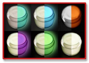 6 Colour Set Glow in the Dark Paint luminous glowing 30ml- SAMPLER