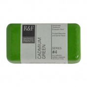 R & F Encaustic 40ml Paint, Cadmium Green