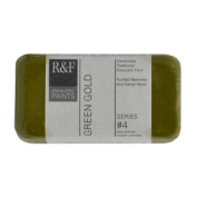 R & F Encaustic 40ml Paint, Green Gold