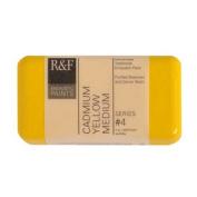 R & F Encaustic 40ml Paint, Cadmium Yellow Med