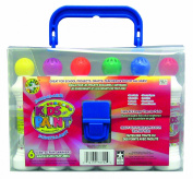Crafty Dab Kids Shimmer Paint - 6 Pack Carry Case