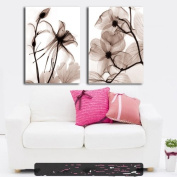 2 pieces Modern Abstract Art Painting Wall Decals canvas ?no frame?The transparent flower2