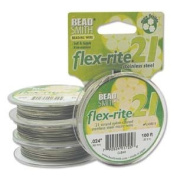 21 Strand Clear Coated Flex Rite Beading Stringing Wire .60cm 100 Feet Nylon Coated 29 Lb Break