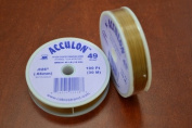 Satin Gold .026 Acculon 49 Strands Beading Wire 100 Feet 1 Pc