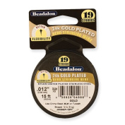 Beadalon 19 24k Gold-Plated .46cm Diamond metre Beading Wire