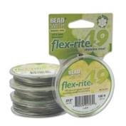 49 Strand Flex Rite Beading Stringing Wire .30cm 100 Feet Professional Nylon Coated Stainless Steel for Small Hole Beads