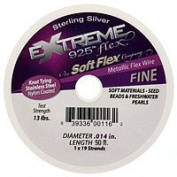 Soft Flex Extreme Sterling Silver Plated Wire .014/50 Feet