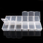 Plastic White Beads Display Storage Jewellery Boxes 12 Spaces