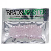 Pack of 100 Glass Beads, Bicone, 4x4mm, 1mm Hole, Crystal Colour
