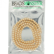 6mm Colour Pearl Glass Beads, Round, Jewellery Beadings Making Findings, 140pcs